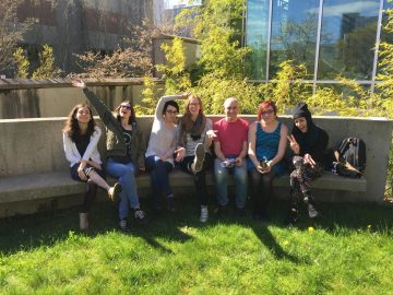 Spring is finally here… and we celebrate with outdoor lab meetings!